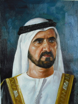 Portrait of Sheikh Mohammed